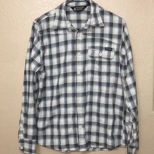 Volcom button up long sleeve size small